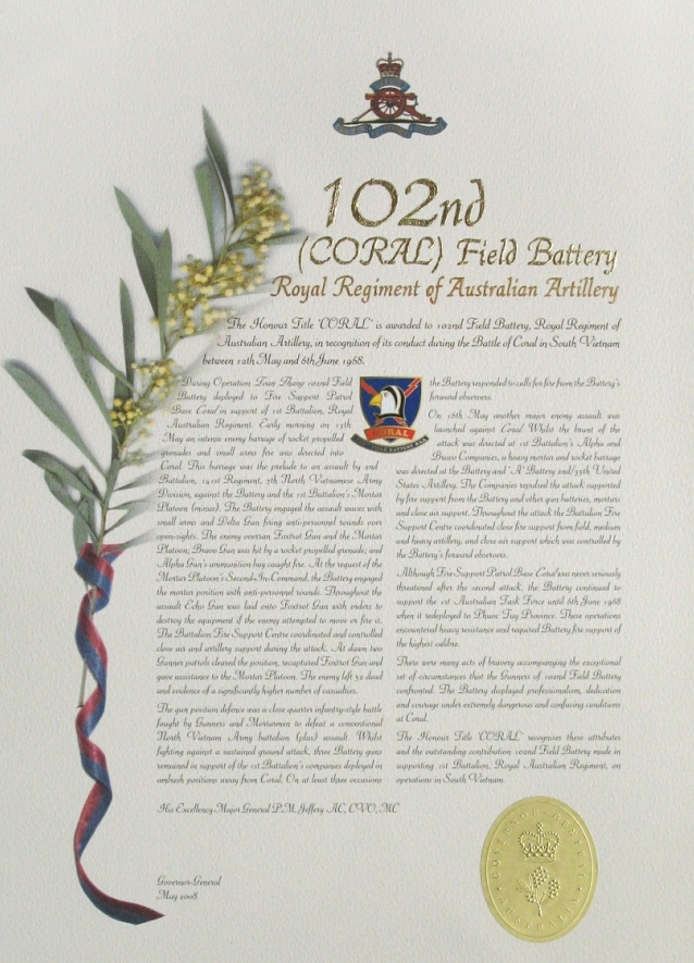 102 (Coral) Field Battery